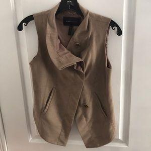 Asymmetrical faux Suede vest